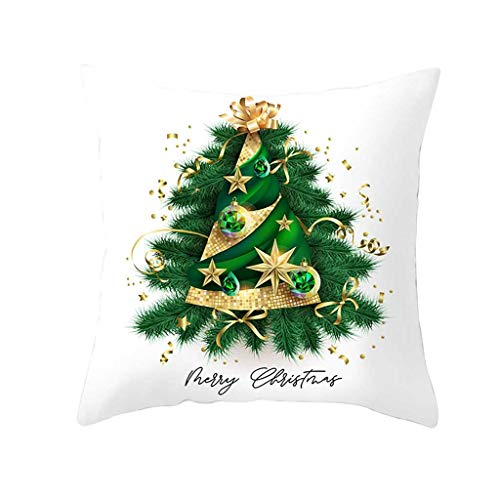 OPALLEY Kissenbezug 45 x 45 cm, Baumwolle Leinen Abstrakter Baum Kissenhülle Taille Wurf Kopfkissenbezug für Zuhause und Sofa, Schlafzimmer Dekoration, 1 Stück