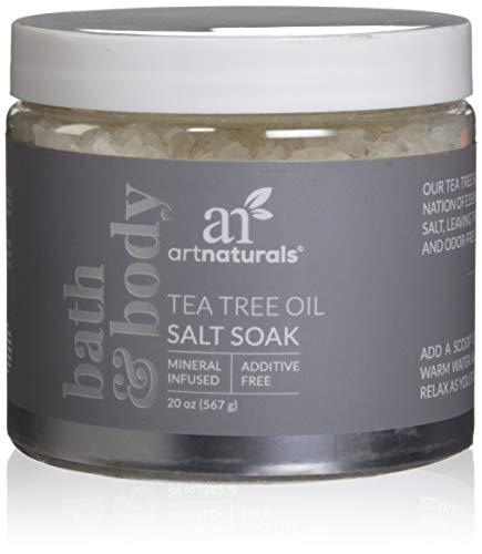 Art Naturals Sales De Baño Para Pies Con Árbol Del Té Y Sales De Epsom 590 ml.