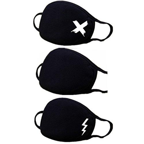 Atemschutzmaske, Staubschutz, Anime, niedlich, Kaomoji, Emoticon, Ohrschlaufe, OP-Maske, Baumwolle, Maske für Kinder, Damen und Herren