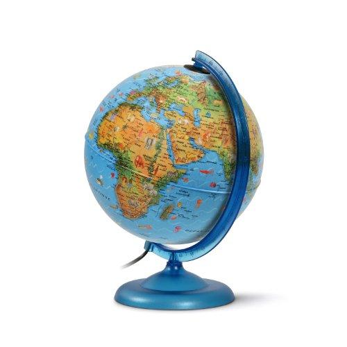 Jpc créations Globe terrestre 25 cm Bleu