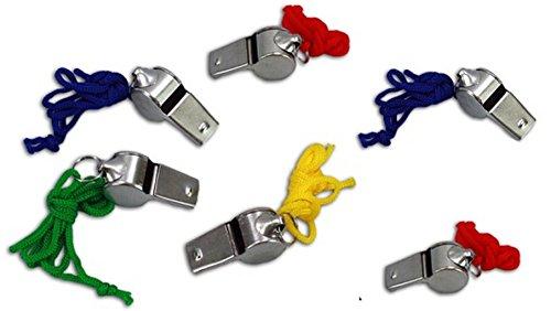 6 x Trillerpfeifen /Schiripfeifen / Metall Pfeifen- ideal als kleines Geschenk / Mitgebsel für Kindergeburtstag oder Motto Party - tolles Partyzubehör zum Auffüllen der Mitgebsel Tüte für Kinder (Kleine Metall-pfeife)