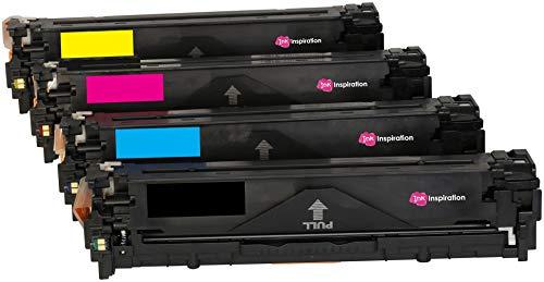 4er Set INK INSPIRATION® Premium Toner kompatibel für HP Laserjet Pro 200 MFP M251n M251nw M276n M276nw CM1312 CM1312nfi CP1215n CM1415 CM1415FN CM1415FNW CP1525 CP1525N CP1525NW MF-8030CN MF-8040CN (Hp 131 Tonerkassette)