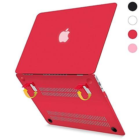 Beatunes Patentierte 2-in-1 Ultra Slim Mattierte Hartschale Schutzhülle mit Faltbarem Ständer für MacBook Air 13