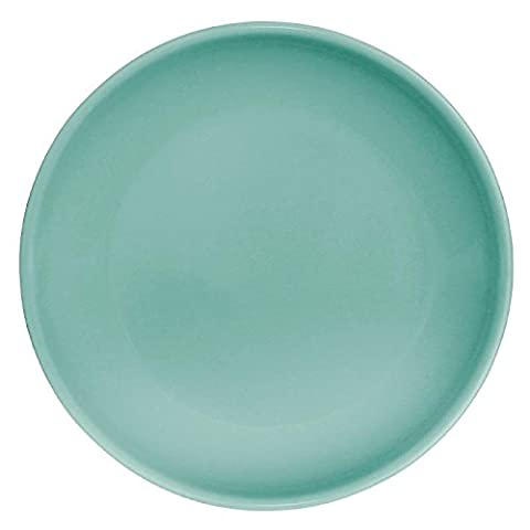 12x Olympia Cafe Coupe Service Plate Aqua 200mm Stoneware Restaurant Dinner