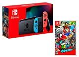 Nintendo Switch V2 32Gb Neon-Rot/Neon-Blau [neues model] + Super Mario Odyssey
