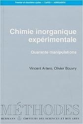Chimie inorganique expérimentale : Quarante manipulations