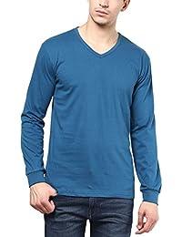IZINC Men's Cotton Full Sleeve V-Neck T-shirt