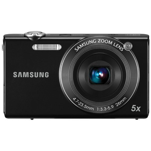 Samsung SH100 14.2MP Point and Shoot Camera (Black) with 5x Optical Zoom