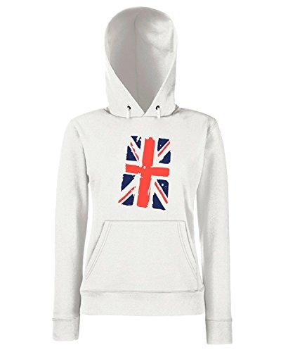 T-Shirtshock - Sweats a capuche Femme TDM00290 uk flag Blanc