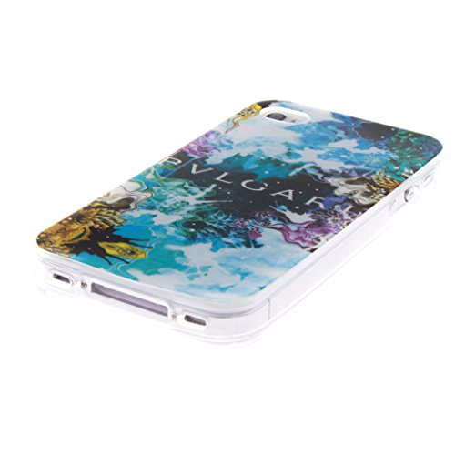 MYTHOLLOGY iphone 4s Coque, Doux Flexible Case Silicone TPU Protection Cover Housse iphone 4 / iphone 4s Drapeau Beau-XY