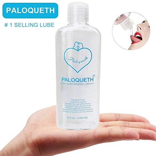 Gleitgel auf Wasserbasis 236ml für Analverkehr Sex mit Natürlichen Wirkstoffen, Paloqueth Erotik Gleitmittel für Langzeit Spaß (Lust Gleitgel)