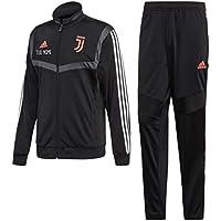 MAESTRI DEL CALCIO Tuta Allenamento Nera Bambino F.C. Juventus 2019/2020 (Vestibilita' Slim) Personalizzata Personalizzabile (11/12 Anni)