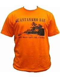 Dallaswear - T-Shirt Guantanamo Bay Human Rights Humoristique Blague
