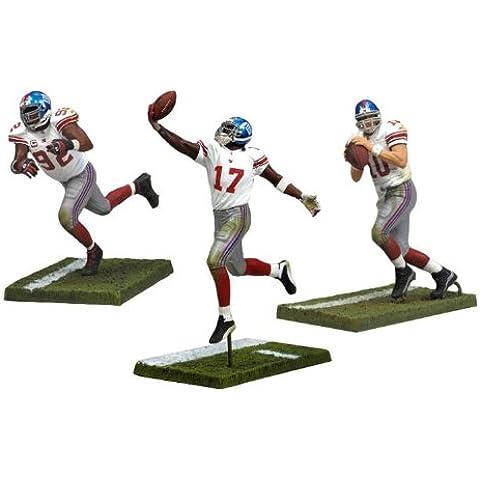 McFarlane Toys NFL Sports Picks figura de acción de Nueva York gigantes Campeonato 3unidades Eli Manning, Michael Strahan y Plaxico Burress