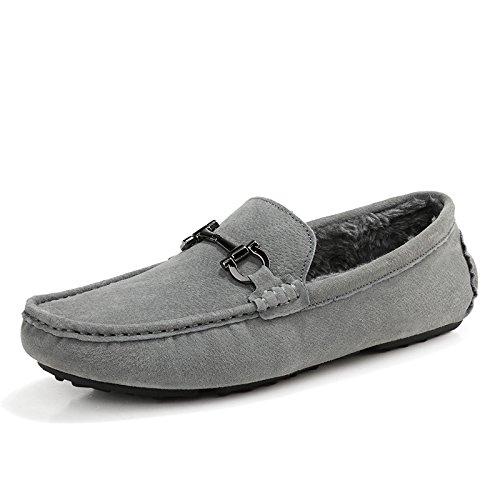 gli uomini di fagioli scarpe, l'autunno e l'inverno gli uomini di pelle di camoscio (scarpe, scarpe casual gray