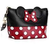 Minnie Mouse Ears Style Tupfen Kosmetiktasche - Multifunktions-Spielraum-Verfassungs-Handtasche Mit...