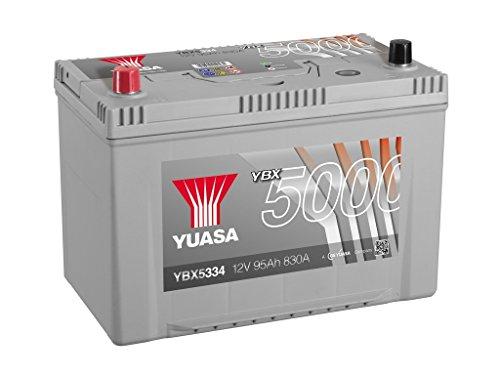 Yuasa YBX5334High performance starter batteria, argento