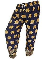 by soljo - Pantalon pantalons de loisirs sportifs pantalon Elephant bleu foncé