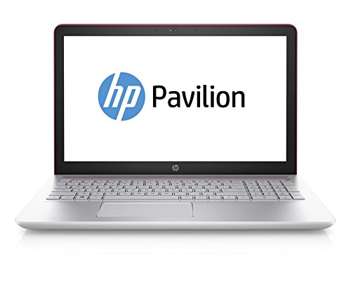 HP Pavilion 15-cc005ng 39,6 cm (15,6 Zoll) Laptop (Intel Core i3-7100U, 8 GB RAM, 1 TB HDD, 128 GB SSD, Intel HD-Grafikkarte 620, Windows 10 Home 64) rot/silber - Tastatur Hp-laptop-beleuchtete