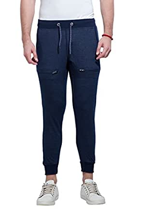 Alan Jones Clothing Men's Cotton Jogger Track Pant (Navy, X-Large)
