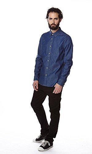 Chemise à manches longues Type C Clean Shirt L/S Lt Wt Blue Shttr Dnm Rinsed Blue G-Star Bleu