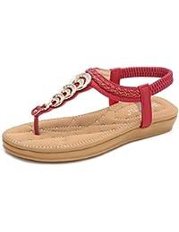 Yiiquan Damen Flach Sandalen Leichtgewicht Rutschfest Lässig Modisch Sommersaison Verschiedene Farben Flip Flops (Rosa, EU 40)