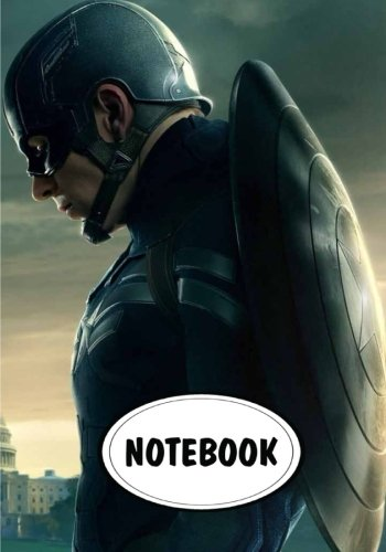 Notebook: Dot-Grid,Graph Grid,Lined,Blank Paper : Captain America : Journal Diary, 110 pages, 7
