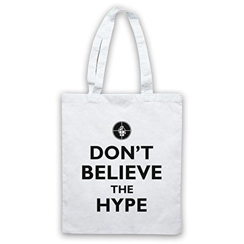 Inspiriert durch Public Enemy Don't Believe The Hype Inoffiziell Umhangetaschen Weis
