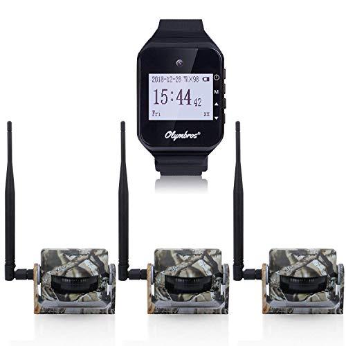 Olymbros Wireless Security Alarm Set Jagd Alarm System drahtlos 360 Grad 65ft (Security-systeme Wireless)