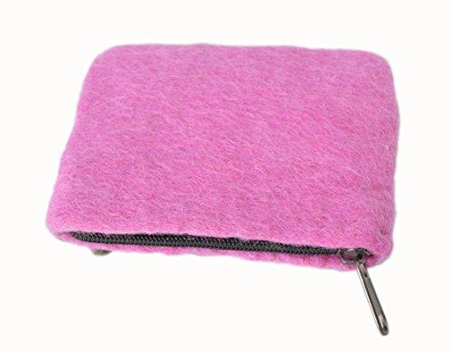 Feltro rosso dotato di borsa fiore moneta del regalo degli accessori rosa