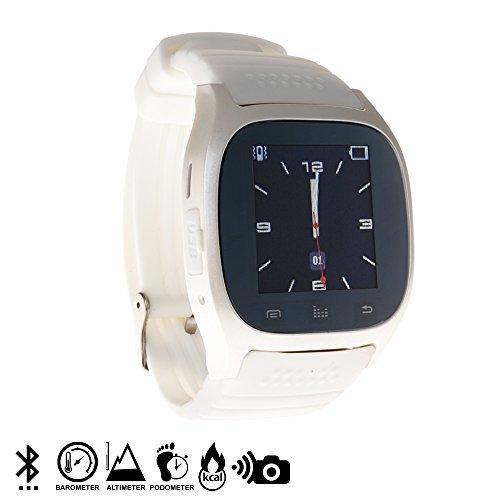 DAM - Smartwatch Timesaphire Bt White. Agenda de contactos, marcador, mensajes SMS, registro de llamadas, aviso de notificaciones, reproductor de música bluetooth, disparador de cámara remoto, función anti pérdida, barómetro, altímetro. Batería litio de 230mAh.
