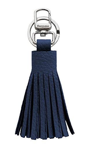 minibag Damen Schlüsselanhänger Leder (Navy) - Navy Leder Schlüsselanhänger