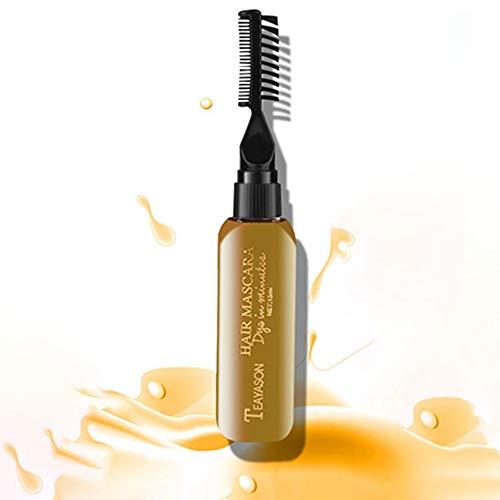 �rbemittel Farbe schmerzt nicht Haar einfach zu reinigen Ungiftig Einmalige temporäre Mascara Haarcreme 13 Farben - Gold ()