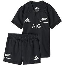 adidas Ab Minikit Equipación All Blacks Selección Rugby Nueva Zelanda, Niños, Negro, 104