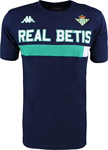Camiseta de algodón de manga corta - Real Betis Balompié 2018/2019 - Kappa Ambra Tee - Azul marino/Verde - S