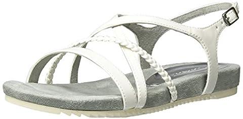 Tamaris Damen 28106 Offene Sandalen mit Keilabsatz, Weiß (White Patent