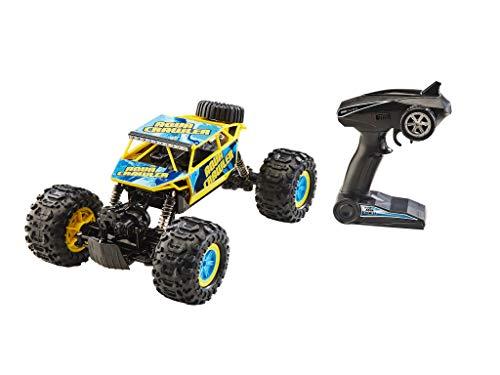 Revell Control 24447 RC Aqua Crawler, GHz-Fernsteuerung, Geländewagen mit 4WD Allrad, fährt auch auf dem Wasser, wechselbarer Akku ferngesteuertes Auto, gelb/türkis