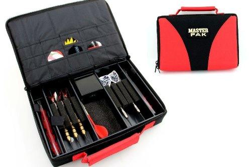Master Pak Dart Bag Multi in schwarz - rot für Profis, Dart Tasche (ohne Inhalt)