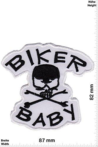 Patch - Biker Baby - weiss - - Biker - Rocker - Chopper - Weste - Patches - Aufnäher Embleme Bügelbild Aufbügler