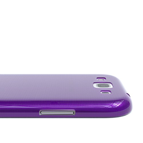 Samsung Galaxy S3 / S3 Neo Hülle - EAZY CASE Ultra Slim Cover TPU Handyhülle - dünne Schutzhülle aus Silikon in Pink Brushed Lila