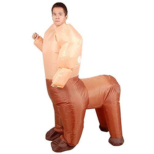 Aufblasbare Half Man und Half Horse Kostüm Puppe Requisiten Anzug für Halloween Party (Weibliche Aufblasbare Puppe Kostüme)