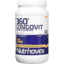 Bebida isotónica y energética Nutrinovex 360º Longovit con BCAAs, Glutamina y Magnesio (Mango maracuyá