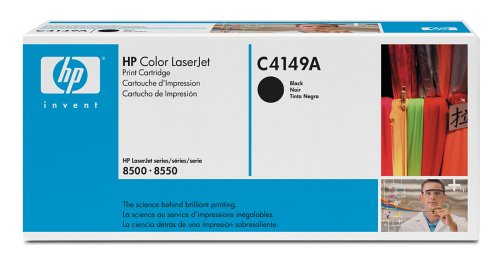 HP Hewlett Packard Colour LaserJet Laser Toner Cartridge 8500 8500n 8500dn 8500hdn 8500mfp 8550 8550n 8550dn 8550hdn 8550mfp C4149A Black (& CANON G Digital Photocopiers IRC624 CP660 SERIES) Test