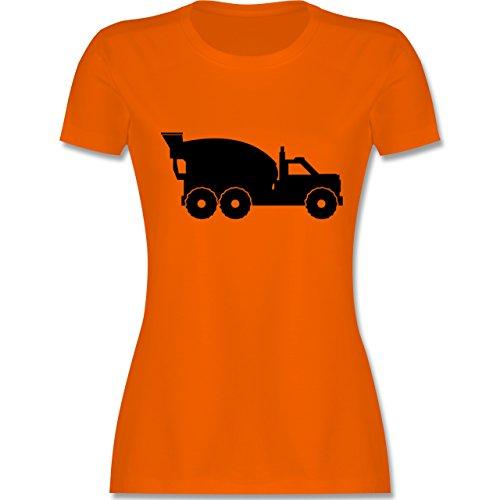 Andere Fahrzeuge - Betonmischer - tailliertes Premium T-Shirt mit Rundhalsausschnitt für Damen Orange