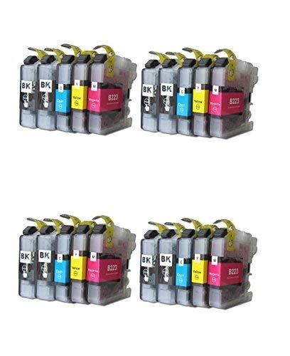 ESMOnline 20 komp. Druckerpatronen (4 Farben) für Brother MFC J4420DW J4620DW J4625DW J5320DW J5620DW J5625DW J5720DW J880DW J680DW J480DW DCP J562DW J4120DW (LC223)