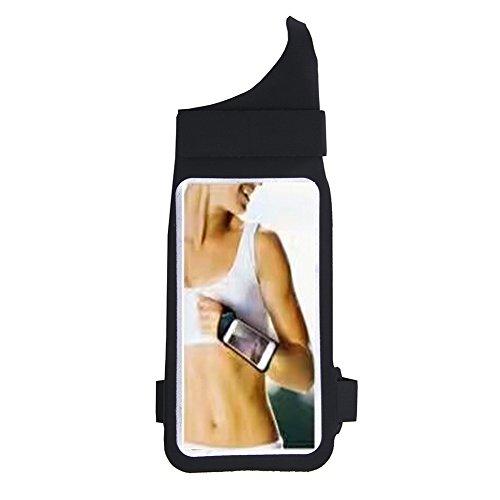 zdmathe Soft Silikon iPhone 8Armband Running Tasche Daumen Handgelenk Gürtel Armband Wasserdicht Handgelenk Tasche, Laufen Wandern Joggen Radfahren Arm Band Handy X 7plus Samsung Galaxy S5S6S7S8Plus, schwarz (Samsung Galaxy 5 Ladegerät Fall)