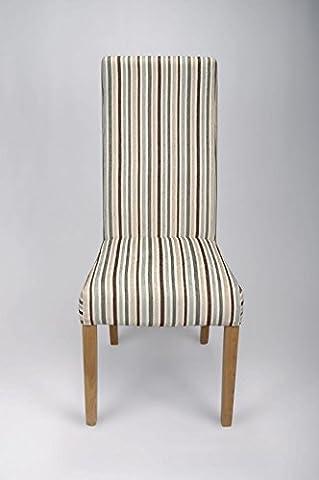 Shankar Baxter Duck Egg Blue Stripe Chair