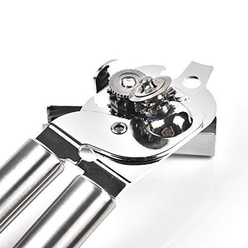 Aex manuale apriscatole leva 3-in-1bottiglia apriscatole–lame in acciaio resistente, facile da ruotare la manopola, manici antiscivolo