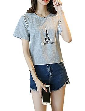 Aisuper - Camisas - Manga corta - para mujer