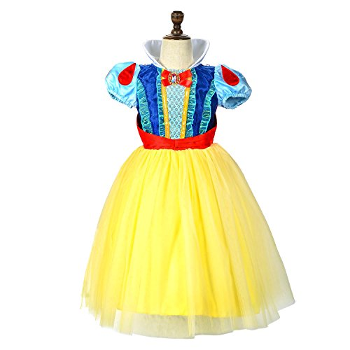 LOEL Schneewittchen Prinzessin Dress Up Coustume Party Girl Kleid (Mädchen Schneewittchen Kostüm)